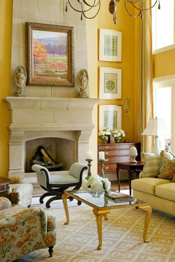 17 gorgeous interiors with gold rugs and yellow rugs - Gold rugs for living room ...
