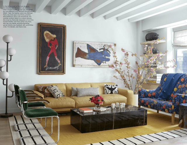 Elle Decor S 5 Best Rooms With Designer Rugs In May 2017