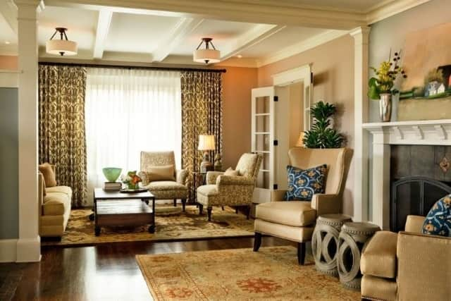 16 ways to coordinate designer rugs in open plan rooms - Multiple seating areas in living room ...