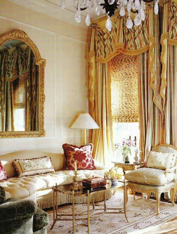 14 ways to decorate with oushak rugs and gray rugs - Gold rugs for living room ...