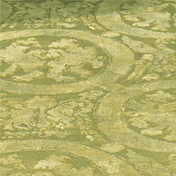 Como 6099FG is a damask rug with many shades of fresh greens and gold accents