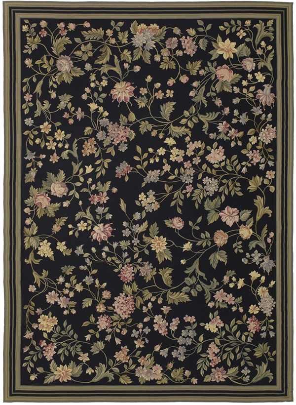 Needlepoint rugs for sale, black needlepoint rugs, black needlepoint rugs for sale, floral needlepoint rugs, Black bessarabian rugs